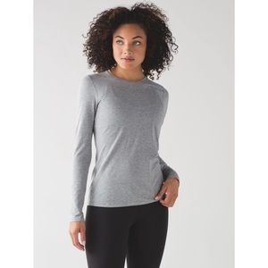 Lululemon Kitsilano Long Sleeve 4 Grey NWT